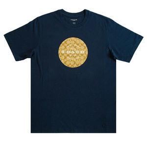 COACH SIGNATURE T Shirt F33780 Navy